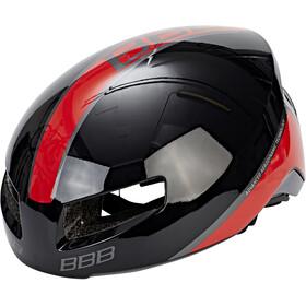 BBB Tithon BHE-08 Casco, nero/rosso